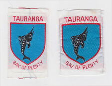 SCOUTS OF NEW ZEALAND - NZ BAY OF PLENTY TAURANGA SCOUT DISTRICT BADGE (2 VAR.)