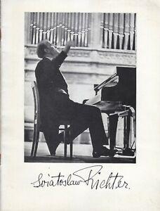 Concert Programme 1961 Sviatoslav Richter Liszt Kirill Kondrashin  RAH LSO