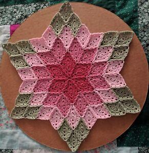Prairie Star Hand Crochet Doily Spring Theme -  **NEW** - Lone Star Lace