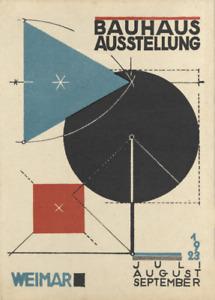 Vintage BAUHAUS 1923 EXHIBITION by Herbert Bayer. Reproduction Bauhaus Poster