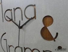 Concrete and Wood Custom Name Wall Clock - Modern Wall Clock