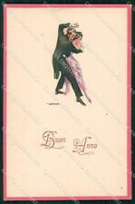 Artist Signed Lenhart Art Deco Dancing Couple serie 16-2 cartolina XP8671
