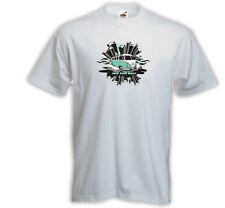 Hot Rod T-Shirt New Star Camper blanco surf rockabilly tatuaje Bus