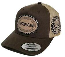 MICHOACAN   MEXICO HAT. MESH TRUCKER  BROWN KACKY  ADJUSTABLE NEW 2LOGOS