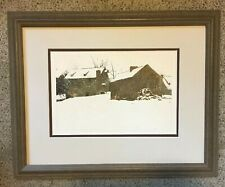 Andrew Wyeth 1961 Brinton's Mill Matted & Framed Print~Nice mid sized print