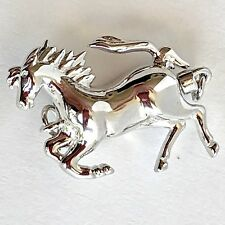 Southwest Galloping Horse Clasp Sterling Silver 925 Jewelry Finding Figural