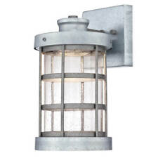 LED Outdoor Wall Light Barkley, - Galvanised Steel With Tropfenklarglas