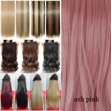 Professional Thick Clip In Hair Extensions One Piece Full Head Long As Human PH7