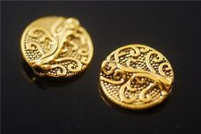 50pcs Tibetan Golden Metal Beads Loose Spacer Bead Jewelry Making Charms 13mm