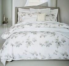 Sferra Barletta F/Queen Duvet Cover in Tin Floral Cotton Percale New
