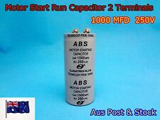 ABS Series 250VAC 1000MFD Motor Start Run Capacitor 2 Terminal (C635) Brand New