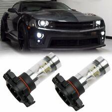 For Chevrolet Camaro Pair 6000K Super White 5202 H16 LED Fog Light Bulb DRL 100W