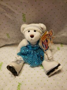 """Brass Bear Pickford Sports Bears Collection Sasha  Ice Skater 10"""" Jointed Doll"""
