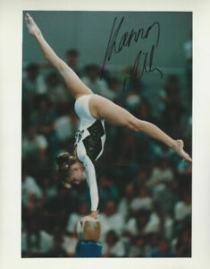 USA Olympic Gold Medalist Shannon Miller autographed balance beam color photo **