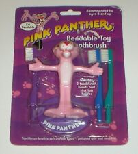 Vintage 1994 Pink Panther Bendable Toy Toothbrush Figure (New & Factory Sealed)