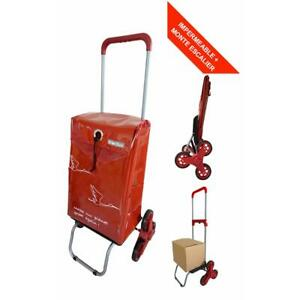 Chariot de courses imperméable et Monte Escalier 6 roues Bo Time Poignée Télesco