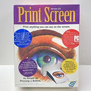 "Print Screen Version 2.0  Big Box, 3.5"" Floppy Disc, JE Software 1995 - NEW"
