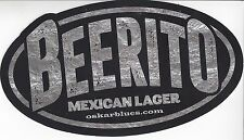 "BEERITO MEXICAN LAGER DECAL STICKER 3"" X 5"" IN SIZE"