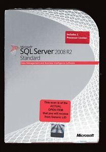 Open Box - 228-09175 Microsoft Windows SQL Server 2008 R2 Standard 1 Processor