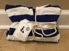 "NEW Pottery Barn Kids Stripe SMALL Cover-Up Towel BLUE 2T-3T Monogram ""austin"""