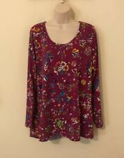 Womans Scoop Neck Shirt Size 2x 18w-20w By Lularoe Blue Green