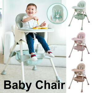75KG Adjust Portable Baby Infant Dining High Chair Toddler Eating Feeding Seat