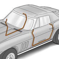 1969-1975 Corvette Door Main Weatherstrip C3 Seal Set Pair Convertible NEW