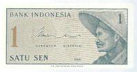 Banknote Indonesien / Indonesia - 1 Sen - 1964 - unc