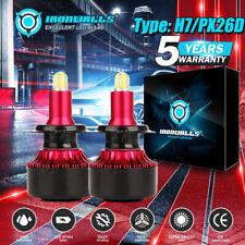 4-Sided H7 COB LED Headlight Bulb 6500K High Beam P360 For Ford Fusion 2006-2017