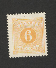 SWEDEN-MH  STAMP - 6 ore -POSTAGE DUE -1874.