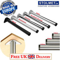 NEW Brushed Chrome Stainless Steel Adjustable Table and Worktop Leg 870mm x 60mm