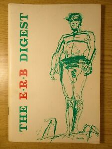 THE E R B DIGEST # 1 EDGAR RICE BOROUGHS FANZINE FROM AUSTRALIA MAR, 1967