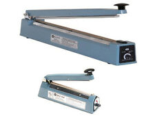 "12"" Impulse Hand Sealer 5mm Flat Wire Heat Seal Plastic Film Bag Strong Sealing"