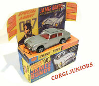 CORGI JUNIORS - JAMES BOND - Superb custom display box and tray ONLY  Assembled