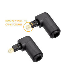 2X 90° Digital Optical Toslink Adapter Male to Female Right Angle  PC TV DVD