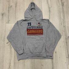 Vintage Cleveland Cavaliers 90s EE. UU. impresión gráfica Pullover Sudadera con capucha Gris L Grande