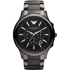 Armani Mens Ceramic Chronograph Watch AR1451 Black dial, COA, RRP £499.00