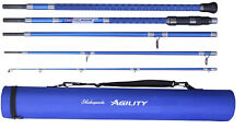 "Shakespeare Agility 2 EXP 5 Piece Travel Beach Rod 11ft 6"" With Travel Case"
