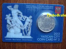 COIN CARD (50 cent) VATICANO 2012 VATIKAN VATICAN BU  Official Coincard N°3 euro