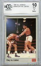 1991 All World #146 Cassius Clay(Ali) Vs Liston Beckett 10 MINT