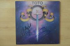 "Toto Autogramme signed LP-Cover ""Toto"" Vinyl"