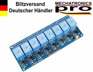 5V/230V 8-Kanal Relais Modul mit Optokoppler Arduino Raspberry Pi KY-019