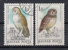 Briefmarken Ungarn 1984 Eulen Mi.Nr.3725+26