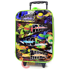 "TMNT Ninja Turtles Pilot Case Rolling Luggage Suite Case Travel Bag 16"""
