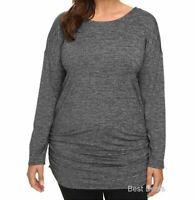 LUCY Women Athletic Manifest Tunic Shirt Black Microstripe 3X LU0A2VQT New $75