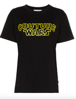 """AW18 Moschino Couture Jeremy Scott Star Wars """"COUTURE WARS"""" Black Yellow T-shirt"""