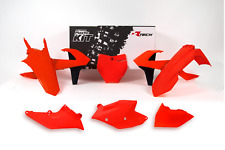 R-Tech Flo Orange 6-Piece Plastic Kit for KTM