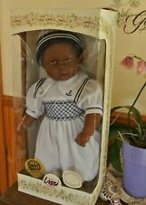 AFRICAN AMERICAN LISSI COLLECTOR 21 Inch DOLL Hand Embroidery Sailor Suit Dress