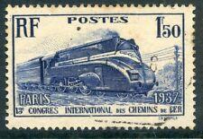 TIMBRE FRANCE OBLITERE N° 340 PACIFIC CARENEE / TRAIN / CHEMIN DE FER LOCOMOTIVE