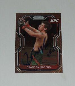 BRANDON MORENO SIGNED AUTO'D 2021 UFC PRIZM PANINI RC CARD #38 CHAMP 263 MEXICO